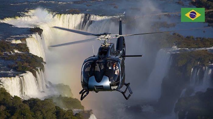 Voo de helicóptero sobre as Cataratas